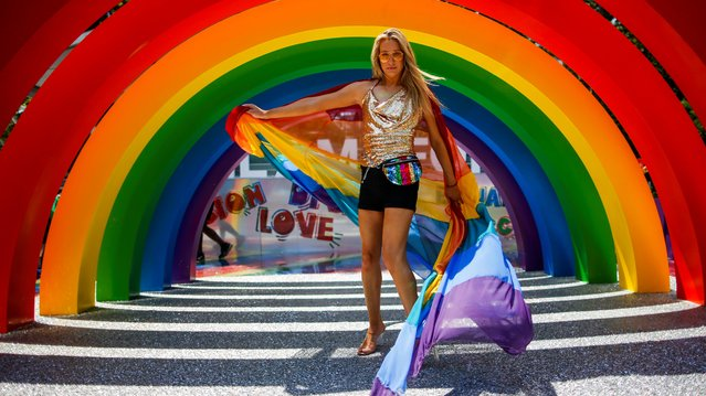 An attendee takes part in the Youth Pride event as part of World Pride and the Stonewall uprising anniversary in New York, U.S., June 29, 2019. (Photo by Eduardo Munoz/Reuters)