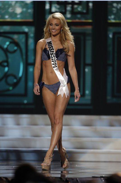 Miss Mississippi, Courtney Byrd, competes in the bathing suit competition during the preliminary round of the 2015 Miss USA Pageant in Baton Rouge, La., Wednesday, July 8, 2015. (Photo by Gerald Herbert/AP Photo)