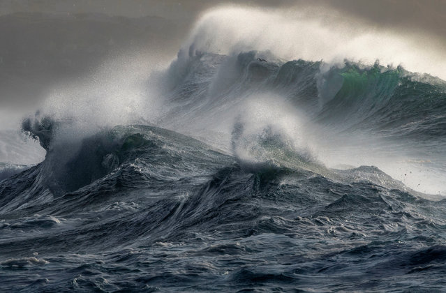 """""""Wild Seas"""", by Mark Dobson, at Gwithian, Cornwall, which has won the Coastal Views category. (Photo by Mark Dobson/PA Wire Press Association)"""