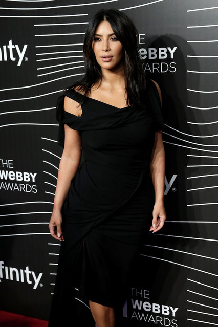 Actress Kim Kardashian West poses as she arrives for the 20th Annual Webby Awards in Manhattan, New York, U.S., May 16, 2016. (Photo by Mike Segar/Reuters)