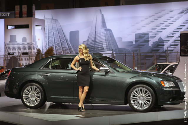 Dodge displays the 2013 300C during the media preview of the Chicago Auto Show