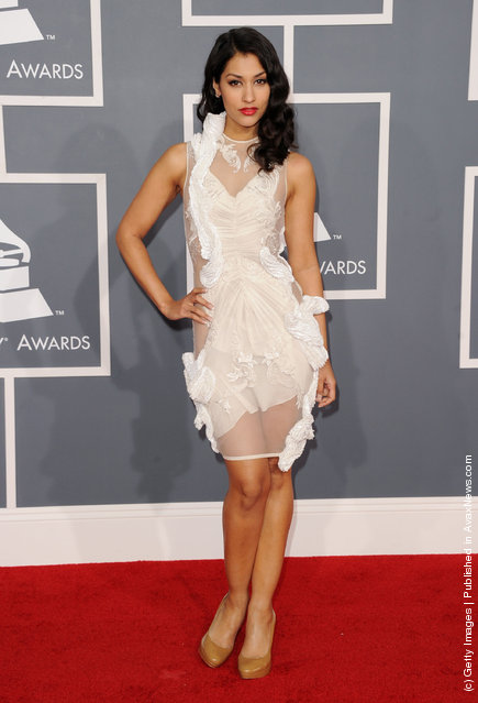 Actress Janina Gavankar arrives at the 54th Annual GRAMMY Awards held at Staples Center