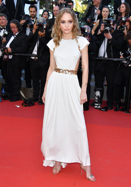 """Lily-Rose Depp attends the """"Ismael's Ghosts (Les Fantomes d'Ismael)"""" screening and Opening Gala during the 70th annual Cannes Film Festival at Palais des Festivals on May 17, 2017 in Cannes, France. (Photo by George Pimentel/WireImage)"""
