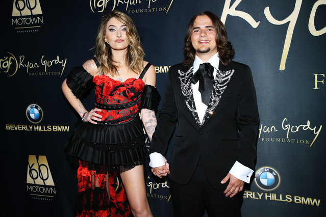 Michael Jackson's children Paris Jackson and Prince Michael Jackson attend Ryan Gordy Foundation Celebrates 60 Years Of Mowtown at Waldorf Astoria Beverly Hills on November 11, 2019 in Beverly Hills, California. (Photo by Phillip Faraone/WireImage)
