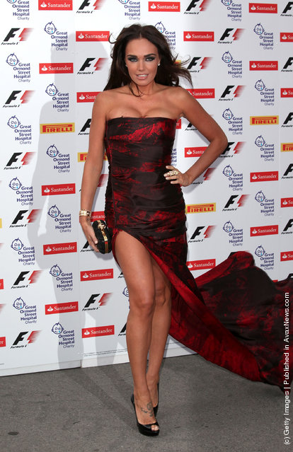 Tamara Ecclestone arrives for the F1 party at the Natural History Museum
