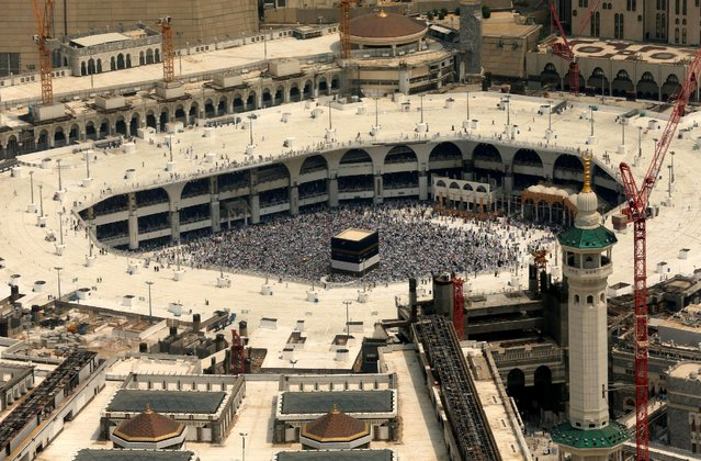 Ariel view of the Kaaba at the Grand mosque in Mecca September 6, 2016. (Photo by Ahmed Jadallah/Reuters)