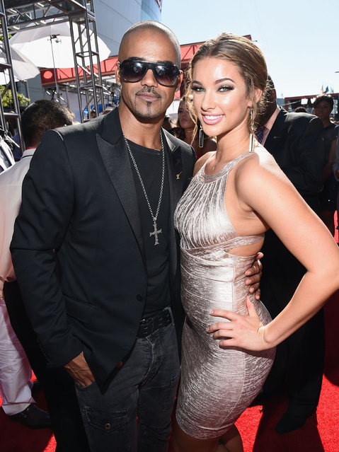 Actor Shemar Moore (L) and guest attend The 2014 ESPYS at Nokia Theatre L.A. Live on July 16, 2014 in Los Angeles, California. (Photo by Michael Buckner/Getty Images For ESPYS)