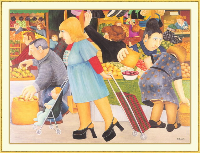 The Market. Artwork by Beryl Cook