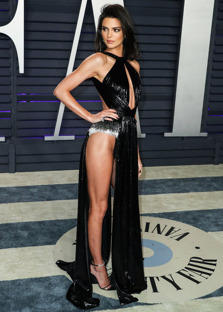 Kendall Jenner attends the 2019 Vanity Fair Oscar Party hosted by Radhika Jones at Wallis Annenberg Center for the Performing Arts on February 24, 2019 in Beverly Hills, California. (Photo by Splash News and Pictures)