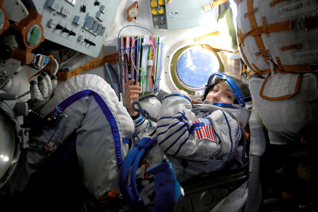 Space tourist Anousheh Ansari while enroute to the International Space Station on September 18, 2006. (Photo by Reuters/NASA)