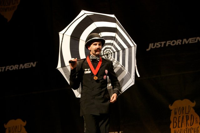 The Just For Men World Beard and Moustache Championships crowned 18 title winners, highlighting the best and boldest examples of facial hair from across the globe on Saturday, October 25th, 2014 in Portland, OR. (Photo by Craig Mitchelldyer/AP Images for Just for Men)