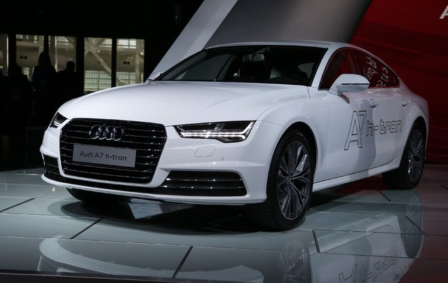 The Audi A7 Sportback h-tron Quattro is shown during the its world debut at the Los Angeles Auto Show in Los Angeles, California November 19, 2014. (Photo by Lucy Nicholson/Reuters)