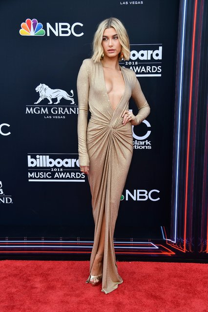 Hailey Baldwin attends the 2018 Billboard Music Awards at MGM Grand Garden Arena on May 20, 2018 in Las Vegas, Nevada. (Photo by Frazer Harrison/Getty Images)