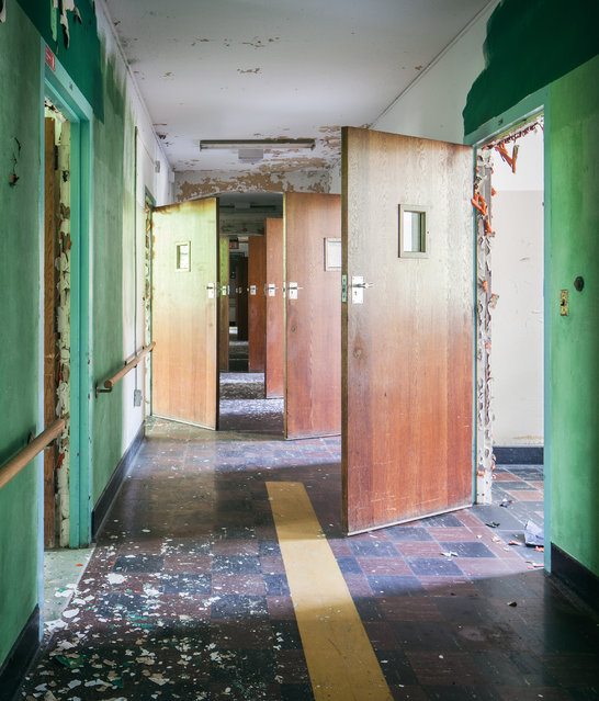 The hospital once housed 9,000 people, including patients and staff. (Photo by Will Ellis/Caters News)