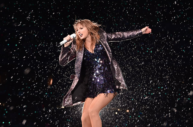 Taylor Swift performs onstage during the 2018 reputation Stadium Tour at Soldier Field on June 2, 2018 in Chicago, Illinois. (Photo by John Shearer/TAS18/Getty Images)