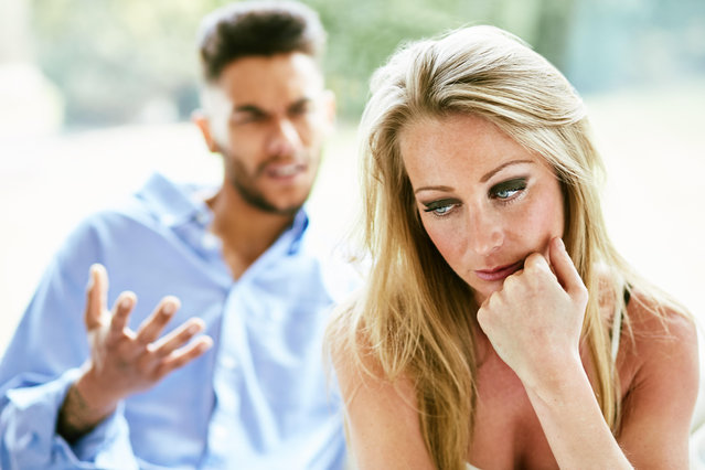 Woman fed up of partner. (Photo by Alamy Stock Photo)