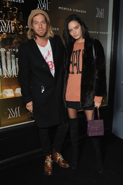 Nick Fouquet and Wanessa Milhomem attend an evening hosted by Karolina Kurkova, Kate Foley and Monica Vinader to celebrate the opening of Monica Vinader's US flagship Boutique in Soho on December 7, 2016 in New York City. (Photo by Craig Barritt/Getty Images for Monica Vinader)