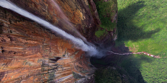 Angel Falls, Venezuela. (Photo by Airpano/Caters News)