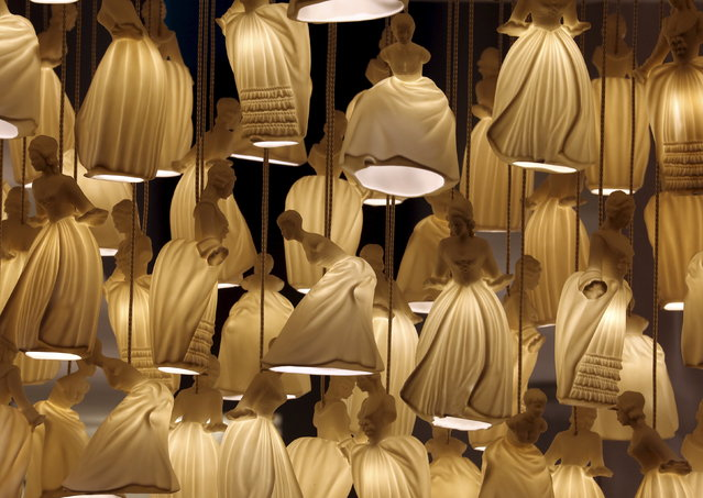 A lights installation is seen at the Carlesso space during the Milan Design Week, April 14, 2015. (Photo by Stefano Rellandini/Reuters)