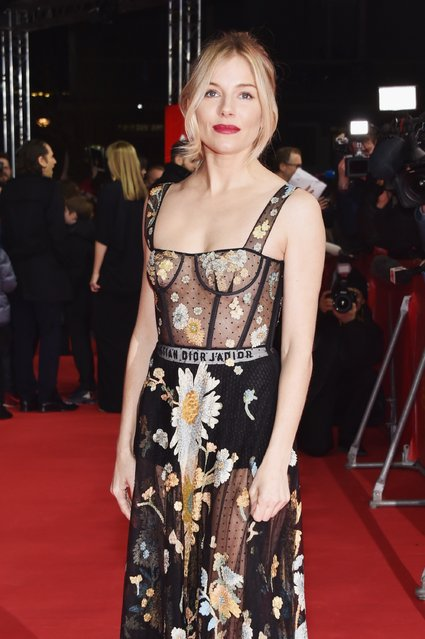 """Actress Sienna Miller wearing Dior attends the """"The Lost City of Z"""" premiere during the 67th Berlinale International Film Festival Berlin at Zoo Palast on February 14, 2017 in Berlin, Germany. (Photo by Pascal Le Segretain/Getty Images)"""