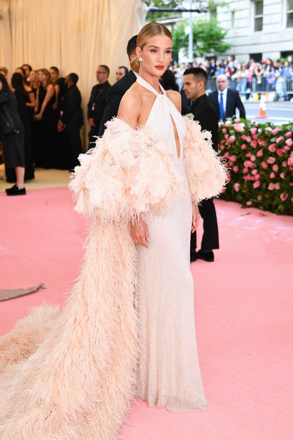 Rosie Huntington-Whiteley attends The 2019 Met Gala Celebrating Camp: Notes on Fashion at Metropolitan Museum of Art on May 06, 2019 in New York City. (Photo by Dimitrios Kambouris/Getty Images for The Met Museum/Vogue)