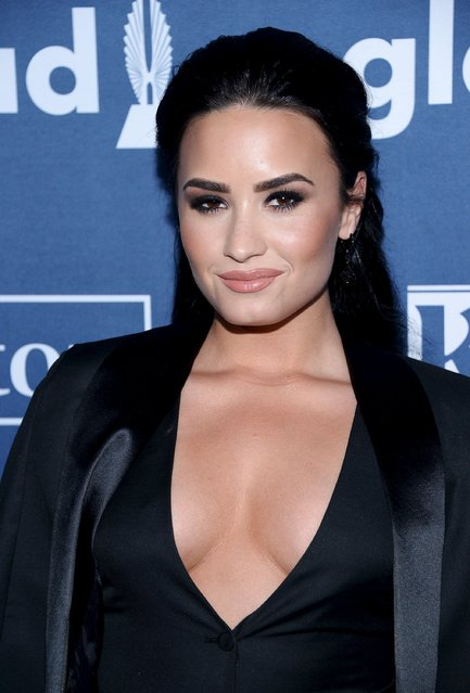 Demi Lovato attends the 27th annual GLAAD Media Awards in Beverly Hills, California April 2, 2016. (Photo by Phil McCarten/Reuters)