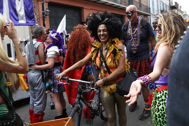 People celebrate Mardi Gras at the French Quarter in New Orleans, Louisiana U.S., February 28, 2017. (Photo by Shannon Stapleton/Reuters)