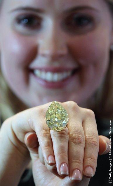 A Sun Drop Diamond Forms Part Of Sothebys Magnificent Jewels Sale
