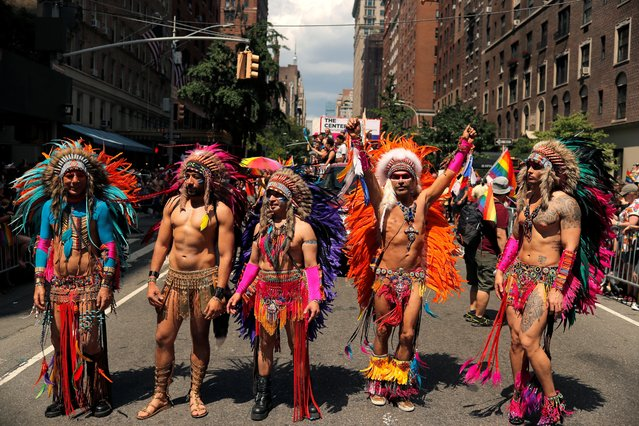 People participate in the 2019 World Pride NYC and Stonewall 50th LGBTQ Pride parade in New York, U.S., June 30, 2019. (Photo by Lucas Jackson/Reuters)