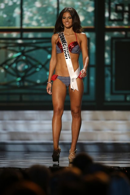 Miss Connecticut, Ashley Golebiewski, competes in the swimsuit competition during the preliminary round of the 2015 Miss USA Pageant in Baton Rouge, La., Wednesday, July 8, 2015. (Photo by Gerald Herbert/AP Photo)