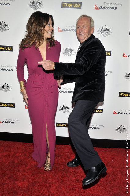 Linda Kozlowski and Paul Hogan arrives for the 9th Annual G'Day USA Los Angeles Black Tie gala