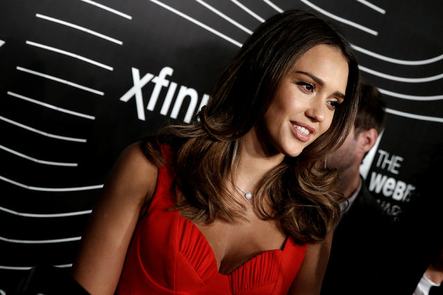 Actress and Founder of the Honest Company Jessica Alba does a television interview as she arrives for the 20th Annual Webby Awards in Manhattan, New York, U.S., May 16, 2016. (Photo by Mike Segar/Reuters)