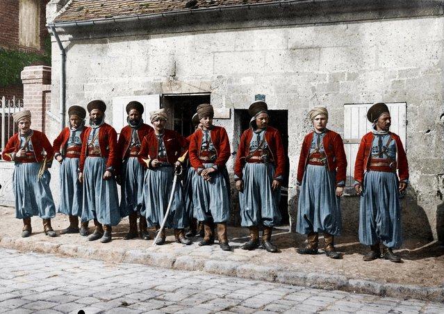 Second Spahis regiment, April 1916. (Photo by Frédéric Duriez/BDIC/Mediadrumworld.com)