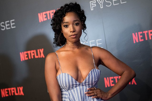 Actress Ashley Blaine Featherson arrives at Netflix's 'Dear White People' FYC event at Netflix FYSee Space on June 4, 2017 in Beverly Hills, California. (Photo by Emma McIntyre/Getty Images)