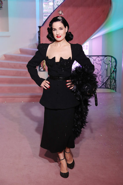 Dita von Teese walks the runway during the Ulyana Sergeenko Haute Couture Spring/Summer 2020 show as part of Paris Fashion Week on January 20, 2020 in Paris, France. (Photo by Victor Boyko/Getty Images)