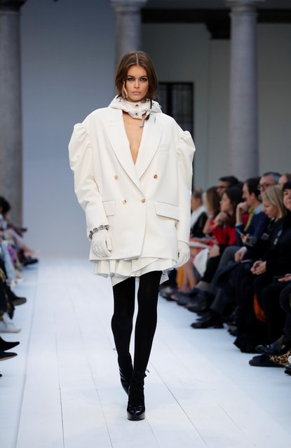 Model Kaia Gerber presents a creation from the Max Mara Autumn/Winter 2020 collection during Milan Fashion Week in Milan, Italy February 20, 2020. (Photo by Alessandro Garofalo/Reuters)