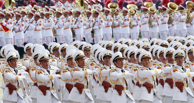 Naval officers march during a parade marking their 70th National Day at Ba Dinh square in Hanoi, Vietnam September 2, 2015. (Photo by Reuters/Kham)