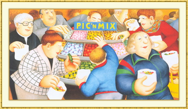 Pic'n Mix. Artwork by Beryl Cook