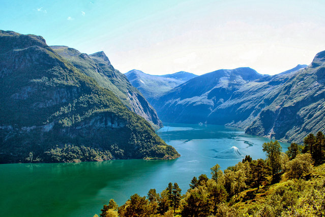 Norway, Geirangerfjord, Geiranger village. (Photo by Patricia-Hamilton/Getty Images)