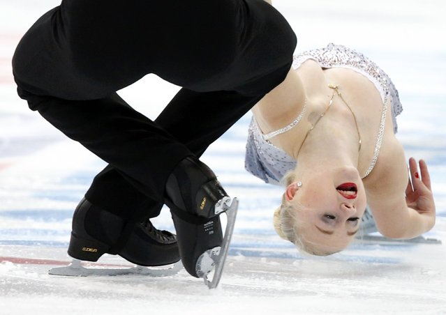 Annabelle Proelss and Ruben Blommaert of Germany perform during the pairs short program at the Rostelecom Cup ISU Grand Prix of Figure Skating in Moscow November 14, 2014. (Photo by Grigory Dukor/Reuters)