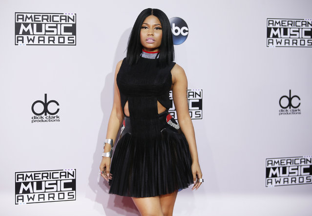 Nicki Minaj arrives at the 42nd American Music Awards in Los Angeles. (Photo by Danny Moloshok/Reuters)