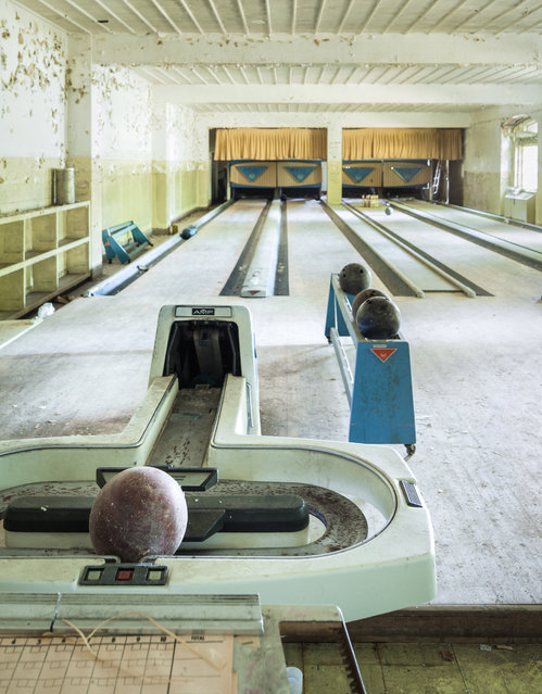 The AMF bowling equipment may date back to the 60s or 70s. (Photo by Will Ellis/Caters News)