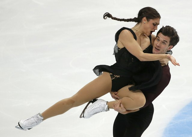 Figure Skating, ISU Grand Prix Rostelecom Cup 2016/2017, Ice Dance Free Dance in Moscow, Russia on November 5, 2016. Laurence Fournier Beaudry and Nikolaj Sorensen of Denmark compete. (Photo by Grigory Dukor/Reuters)