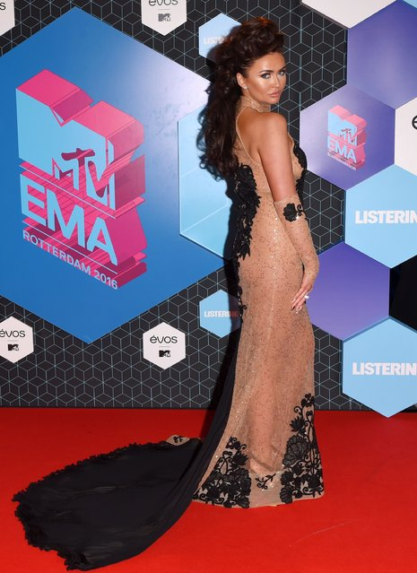 Charlotte Dawson poses for photographers upon arrival at the MTV European Music Awards 2016 in Rotterdam, Netherlands, Sunday, November 6, 2016. (Photo by David Fisher/Rex Features/Shutterstock)