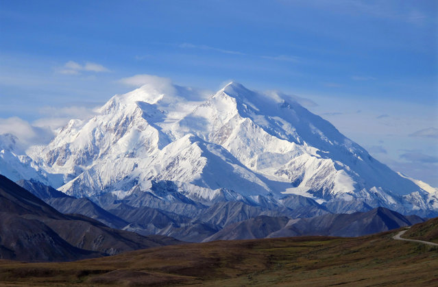 This August 19, 2011 file photo shows Mount McKinley in Denali National Park, Alaska. (Photo by Becky Bohrer/AP Photo)
