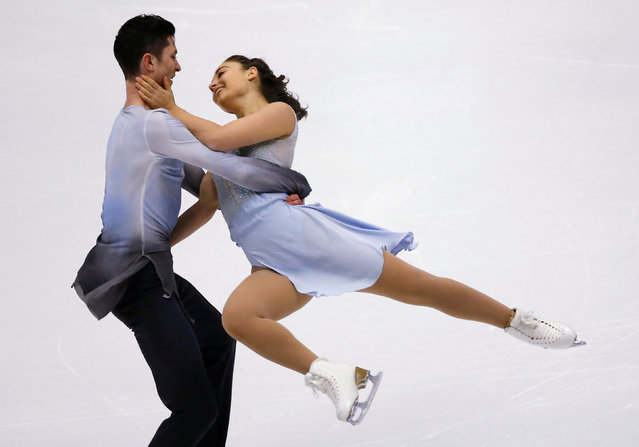 Figure Skating, ISU Grand Prix of Figure Skating NHK Trophy 2016/2017, Ice Dance Free Dance, Sapporo, Japan on November 27, 2016. Anastasia Cannuscio and Colin McManus of the U.S. compete. (Photo by Issei Kato/Reuters)