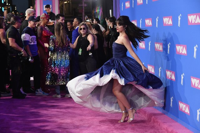 Camila Cabello attends the 2018 MTV Video Music Awards at Radio City Music Hall on August 20, 2018 in New York City. (Photo by Mike Coppola/Getty Images for MTV)