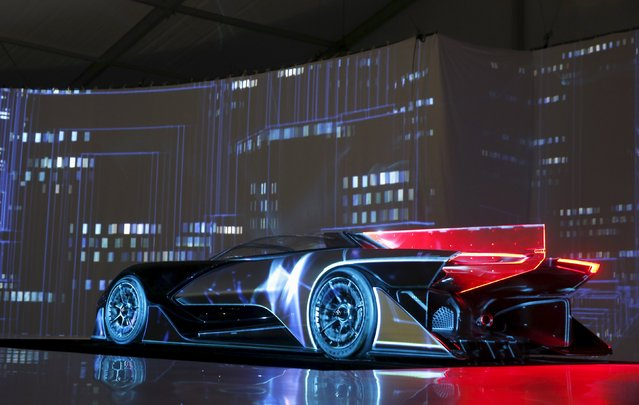 The Faraday Future FFZERO1 electric concept car is unveiled during a news conference in Las Vegas, Nevada January 4, 2016. (Photo by Steve Marcus/Reuters)