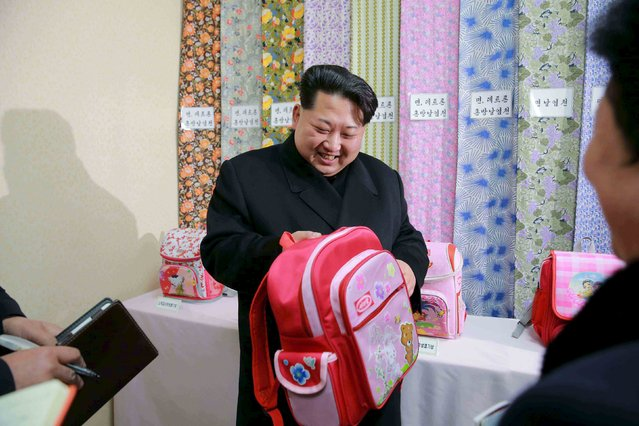 North Korean leader Kim Jong Un provides field guidance to the Kim Jong Suk Pyongyang Textile Mill, in this undated file photo released by North Korea's Korean Central News Agency (KCNA) in Pyongyang on January 28, 2016. (Photo by Reuters/KCNA)