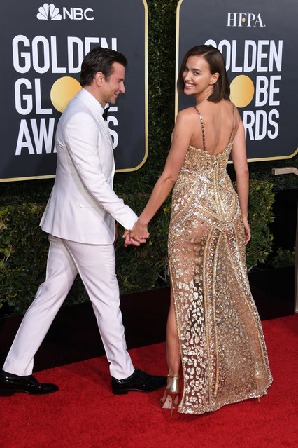 Irina Shayk and Bradley Cooper attends the 76th Annual Golden Globe Awards at The Beverly Hilton Hotel on January 06, 2019 in Beverly Hills, California. (Photo by Daniele Venturelli/WireImage)